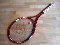 2 Dunlop Tennis Rackets Good Conditions, 1 bag, Red