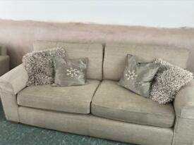 Next 3 seater sofa and love chair