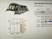Vango 600XL 6 Berth Tent & Trailer