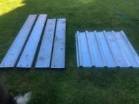 Galvanised metal sheet and purlins **FREE**
