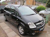 2008 Black VVauxhall Meriva. 1.6L 79000 miles. Full Service History. £1850