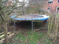 FREE Large 12-foot trampoline. Needs a good clean but frame in good rust-free condition