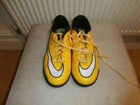 Boys Nike Mercurial Astro Turf Football Boots, UK size 4