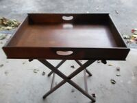 Wooden Butlers Tray & Stand