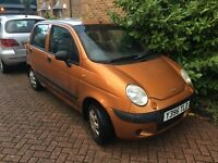 Daewoo Matiz 2001 orange car FREE 5 WHEELS small engine like Nissan Micra, Hyundai Amica, Atoz, Fiat