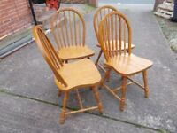 4 chairs kitchen or dinning chairs