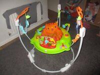 fisher price safari jumperoo, baby walker and door bouncer