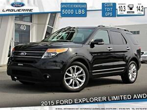 2015 Ford Explorer LIMITED**AWD*CUIR*TOIT*GPS*CAMERA*A/C**