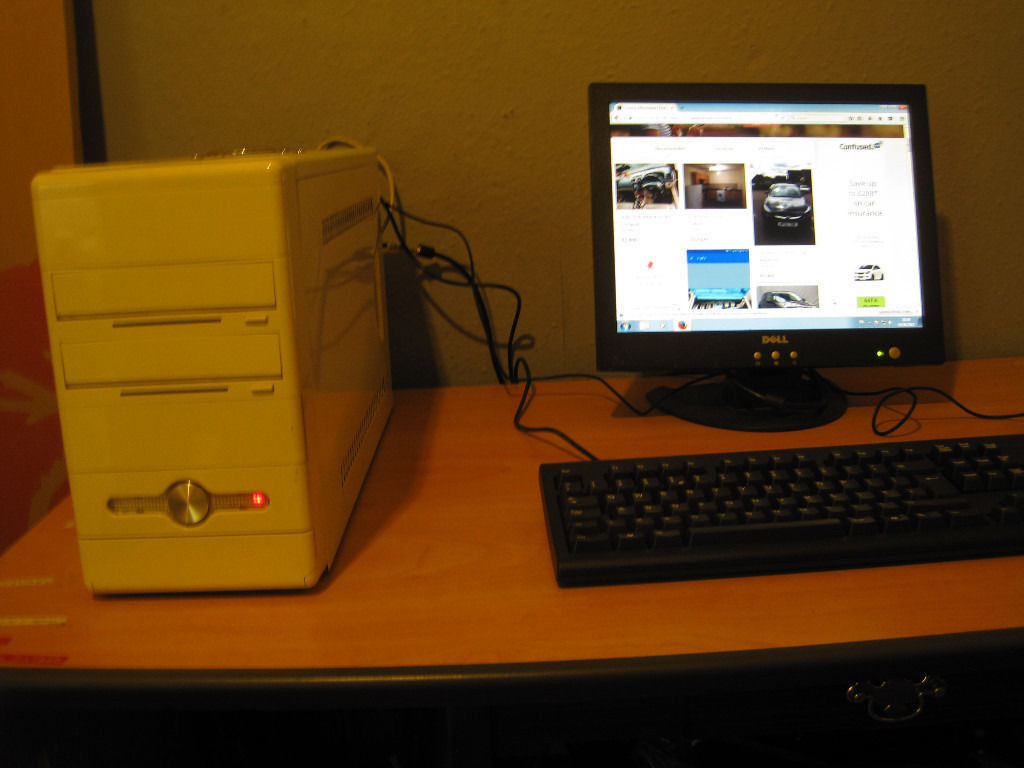 Pc setup for sale with LCDin Hulme, ManchesterGumtree - Pc for homework or basic internet use windows 7 see pics for full details yes complete CPU LCD KEYBORD MOUSE and cable all for £25
