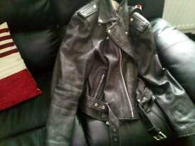 Real Leather Brando style jacket