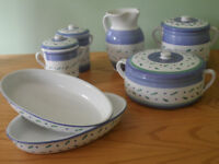 A range of serving dishes