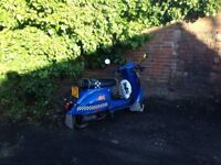 Vespa replica 125cc 4 stroke
