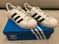 (SOLD). ADIDAS SUPERSTARS UK 3.5