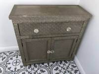 Silver side table