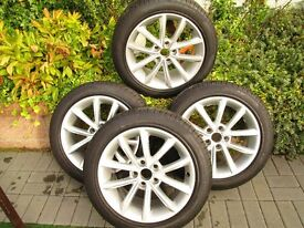 """FREE SET OF OEM AUDI ALLOYS"" For Sale 17"" Tyres to suit Audi A3/A4, could fit A1."