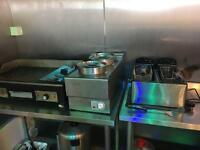 Bain Marie hot plate and fryer