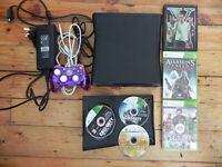 Microsoft Xbox 360 S Slim 250Gb Black (PAL) Console GTA5, COD - 6 Games Bundle