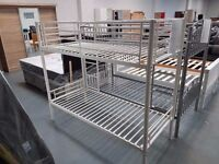 Brand New White Shorty Bunk Beds. Already Built And Can Deliver. Takes Shorty Size Single Mattress