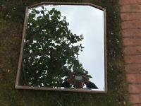 Vintage bevelled edge wall mirror