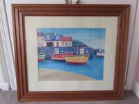 Framed 'Boats in Harbour' Print / Picture by Simon Hart
