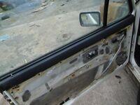 MK1 GOLF GTI, RIVAGE, ETC PASS SIDE INTERNAL DOOR TOP MOULDING, ORIGINAL