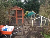 Chicken coops , incubator plus others