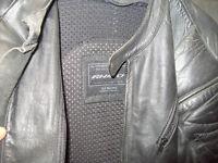 motorbike leather jacket (RHINO) size 48.