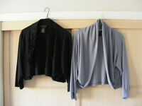 Two Nina Leonard eveningwear? tops. Shoulder covering? Large