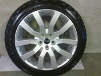 ALLOYS X 4 OF 20 INCH GENUINE RANGEROVER SUPERCHARGED FULLY POWDERCOATED INA STUNNING DUTCH SILVER