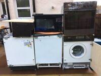 whirlpool fridge+whirlpool freezer+whirlpool microwave+stoves hob+oven+extracter+washing machine£60