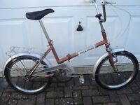 A Vintage Painonia Mayfair Fold - up Adults Bike