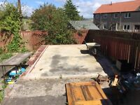 Looking for a team of builders to build a garage and a shed.