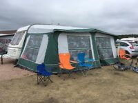 Caravan awning and equipment