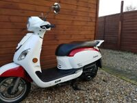 Sym fiddle 3 125 cc scooter 2014 model red white low mileage perfect condition