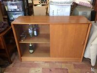Mid Century Gibbs Sliding Bookcade,Sideboard, Drinks Cabinet