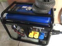 Hyundai 9000LE 6.3 kilowatt petrol generator electric starter