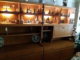 Retro/Vintage 60s / 70s display cabinets