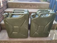 2 x 20lt metal Jerry cans