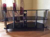 BARGAIN!! -- Black Glass TV Stand!