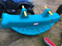 Little tykes sandpit and see-saw
