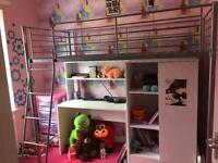 Bunk bed with ware drove for sale