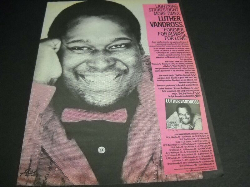 LUTHER VANDROSS Cheryl Lynn Oct. 10 - Dec. 19, 1982 TOUR Dates Promo Poster Ad