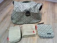 Storksak Nina Antalya grey changing bag with a changing mat