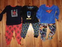 Boys age 5-6 pyjama bundle fleece superhero warm
