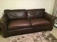 Sofas - Marks and Spencer large and medium sofas in chocolate brown leather