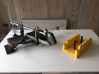 Draper 550mm hand mitre Saw and Stanley mitre box