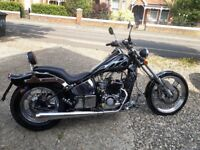Ajs 125 eos chopper, 2015, 1550 miles, learner legal
