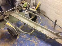 Erde Single Motorcycle Trailer. Good condition, full electrics. £225 Ono