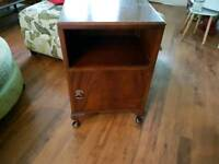 Vintage Retro Bedside Table Bathroom Cabinet Hall Console Queen Anne Style Feet