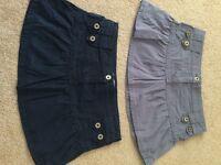 2 mini skirts, size 6